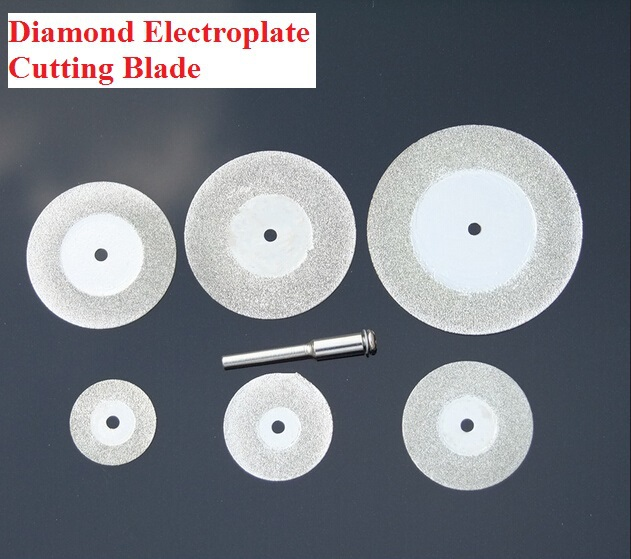 Mini 6pcs/lot 20-50mm Diamond Electroplate Cutting Blade Set High Speed Efficient Free Shipping Russia
