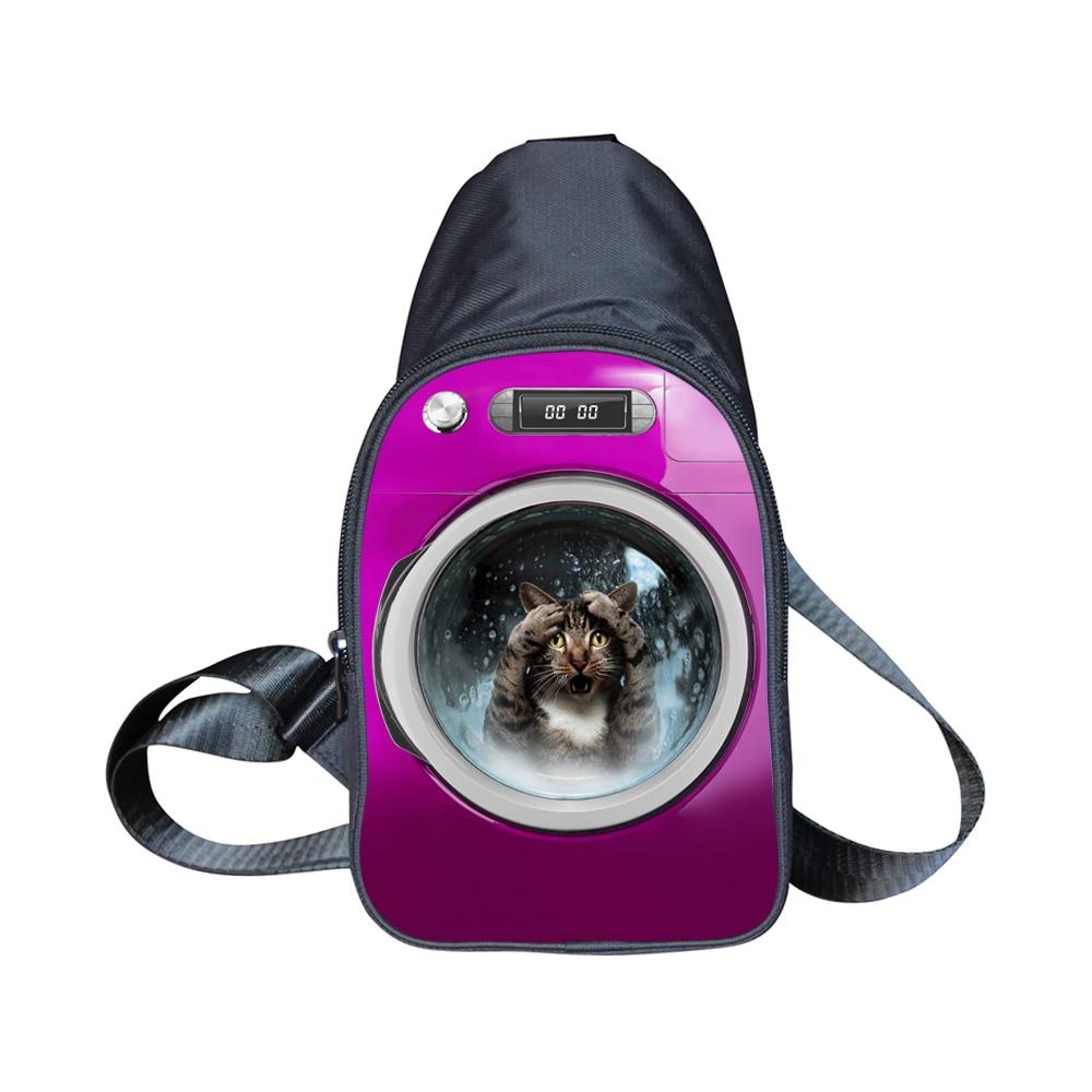 Lindo animal cat dog print messenger bag girls español bolsas mujeres bolso de l