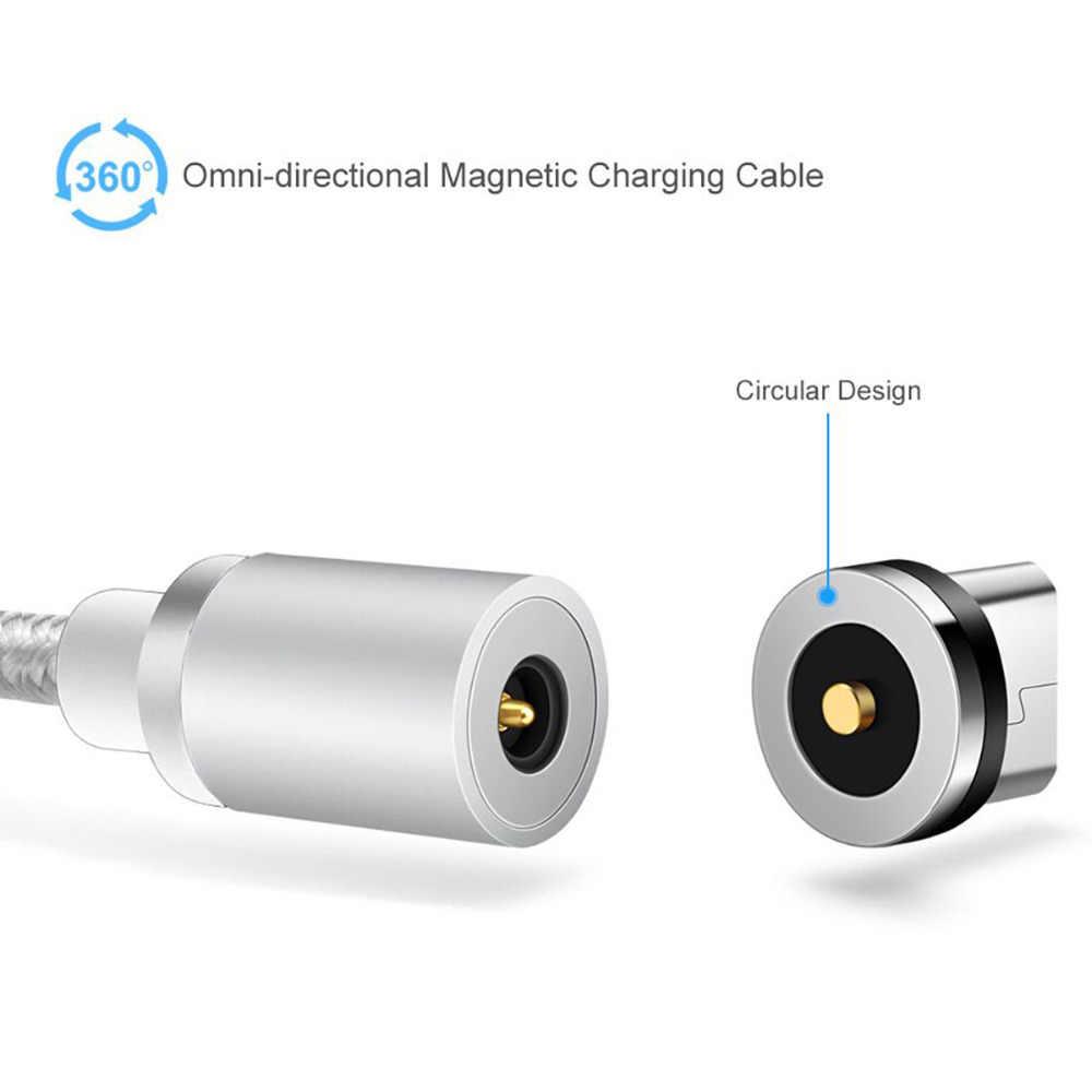 3FT/1 M المصغّر usb كابل 360 درجة جولة المغناطيسي شاحن الحبل ل آسوس Zenfone ماكس برو M1 المحمولة Chargeur كابل الفقرة ZB601KL