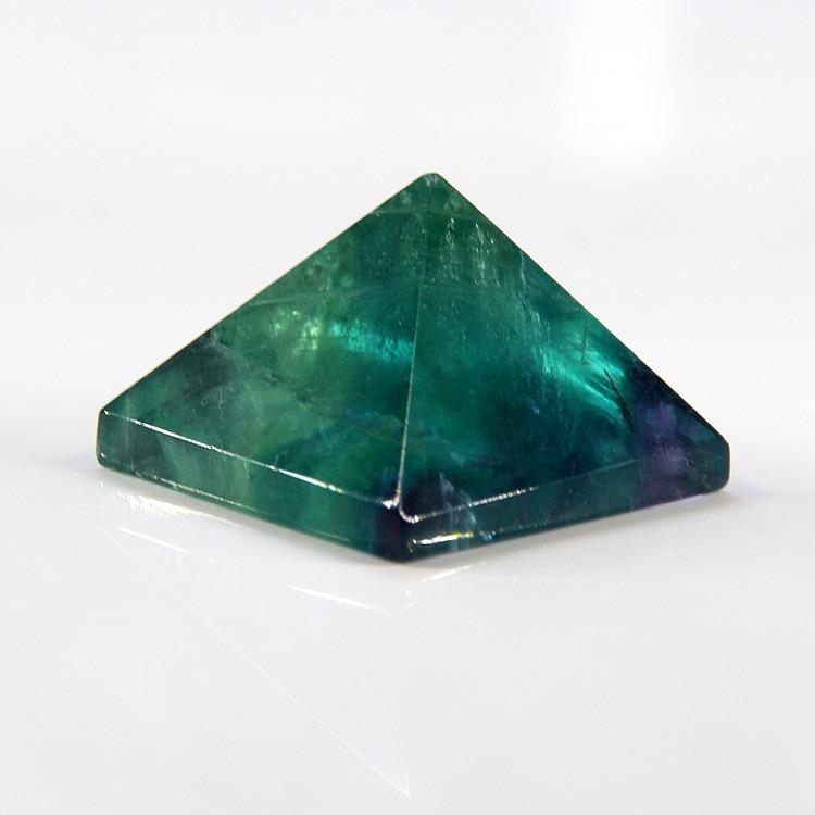 2018 pirámide de cristal natural púrpura fluorita punto pirámide ...