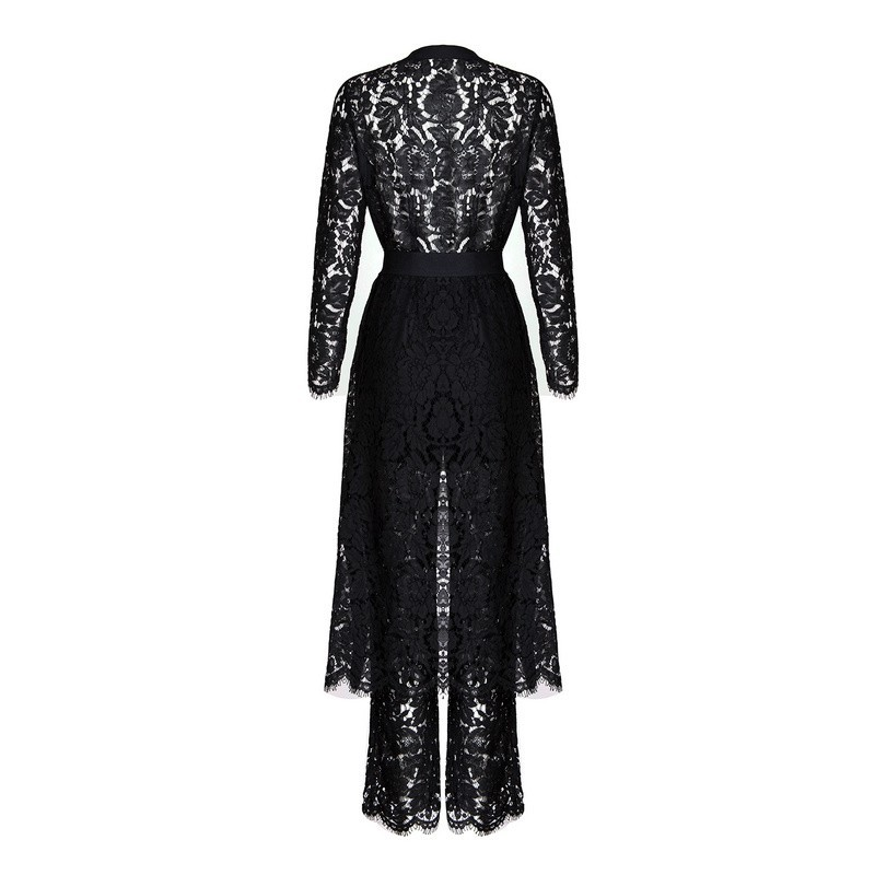 Jumpsuit Women 2016 Bodycon Eliacher Brand Plus Size Chinese Women Clothing Sexy White Evening Party Lace JUMPSUIT