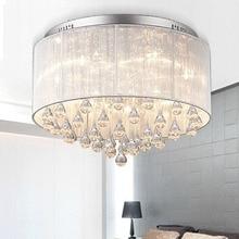Современный светодиодный потолочный светильник светодиодный хрустальный светильник диаметр 450 мм AC90-260V потолочный светильник для спальни поверхностный монтаж