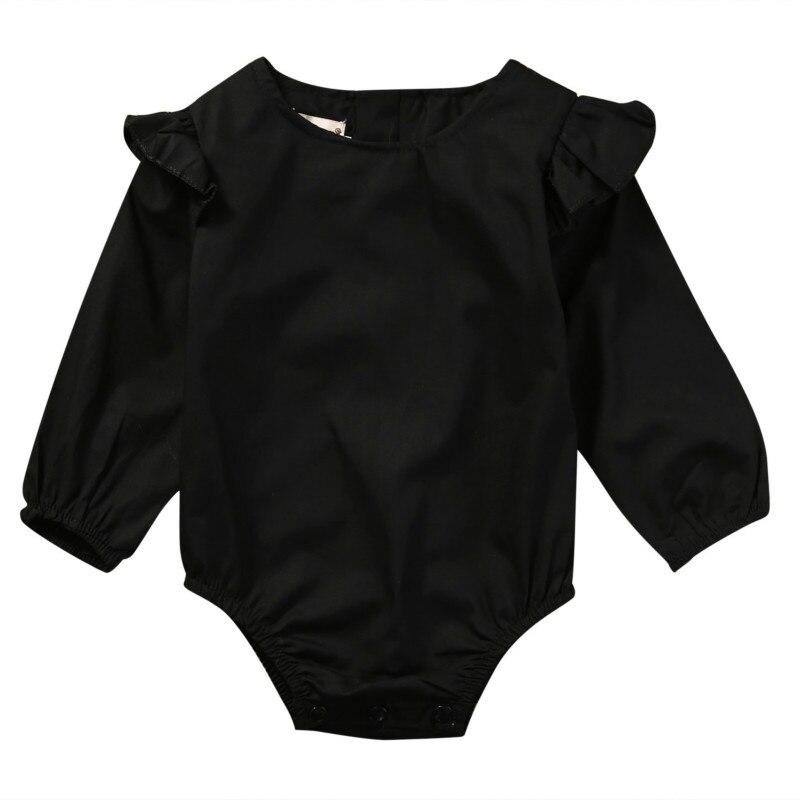 New Fashion Baby Clothing Baby Girl Bodysuit Newborn Spring Summer Autumn Baby Girls Clothes Bodysuit Black Yellow White 0-24M