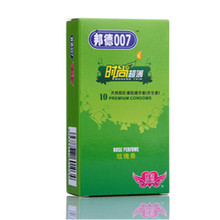 10PCS Recommended Style Bond 007 Fashion Condoms Ultra Thin Particles Natural Latex Lubrication of Condoms Free Shipping Product