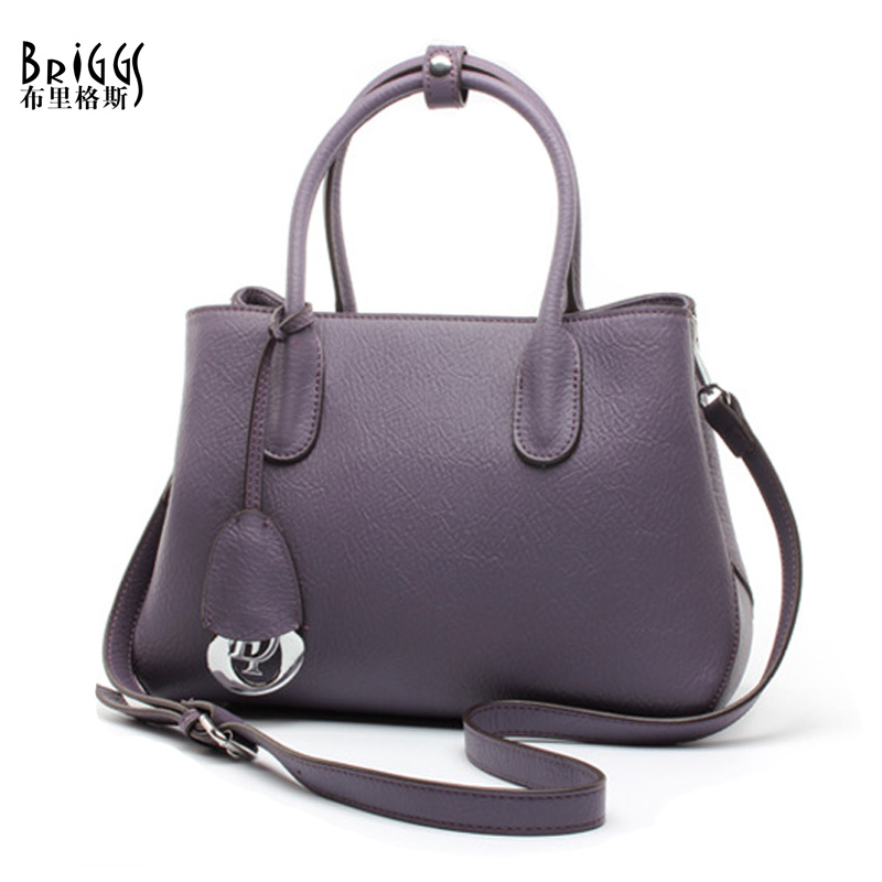 BRIGGS Women Bag Brands Handbags Genuine Cow Leather Women Messenger Bag Luxury Design Fashion Handbag Women Tote Bolsa Feminina genuine leather tote boston bag ladies handbag bolsa feminina women leather handbags luxury design mupo brand popular classics