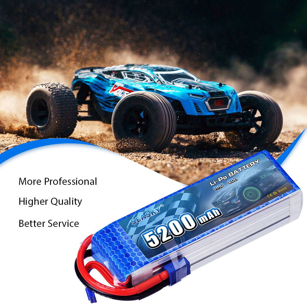 Image 5 - SEASKY 3S lipo Battery 11.1V 5200mAh 60C RC battery XT60 for RC drone Car-in Parts & Accessories from Toys & Hobbies