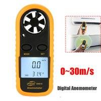 Portátil 0-30 GM816 m/S Anemômetro Velocidade Do Vento Medidor de Instrumentos de Medição De Velocidade Sensor de Velocidade Do Vento Medidor Anemômetro LCD Digital