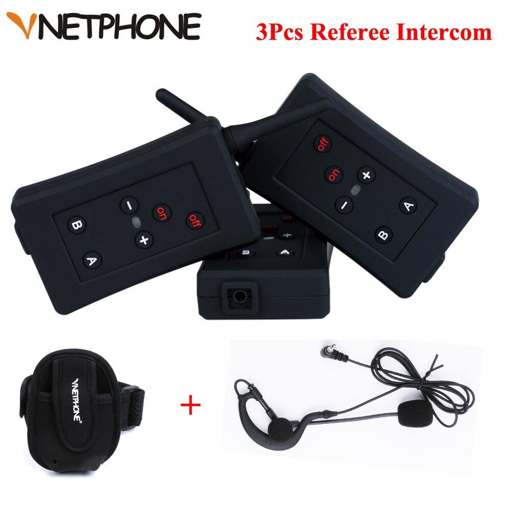 3 pièces FBIM Bluetooth Interphone Interphone 1200 M Interphone sans fil pour les motocyclistes directeurs Duplex complet arbitre Interphone