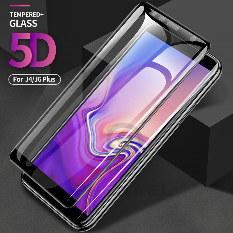 5D Protective Glass For Samsung Galaxy J4 J6 Plus Full Cover Screen Protector For Samsung J8 J6 A6 Plus 2018 Tempered Glass Film