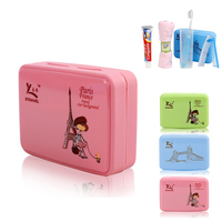5PCS Portable Bathroom Accessories Sets Travel Kit High Quality Cute Candy Color Environmental With Containing Box