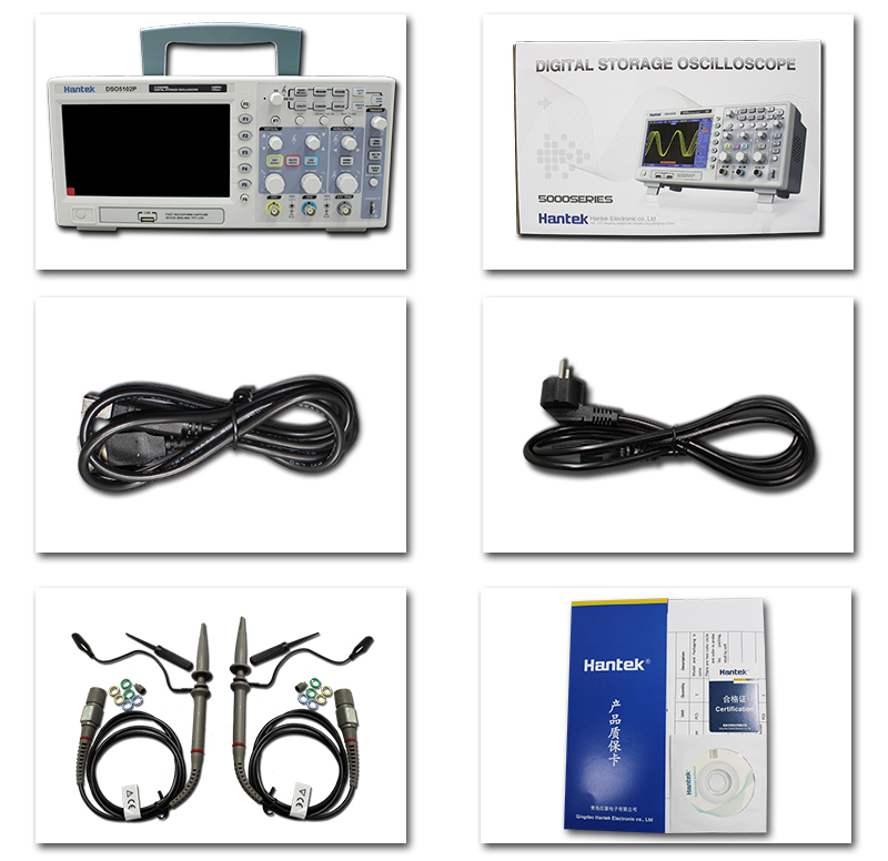 Image 5 - Hantek DSO5202P Digital Oscilloscope 200MHz bandwidth 2 Channels PC USB LCD Portable Osciloscopio Portatil Electrical Toolshantek dso5202pdigital oscilloscopedigital oscilloscope 200mhz -