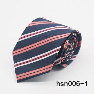 Image 2 - Gravatá Nam Sọc tie 8 cm skinny Buộc các Business Wedding Party polyester Cà Ra Vát Ties For Men