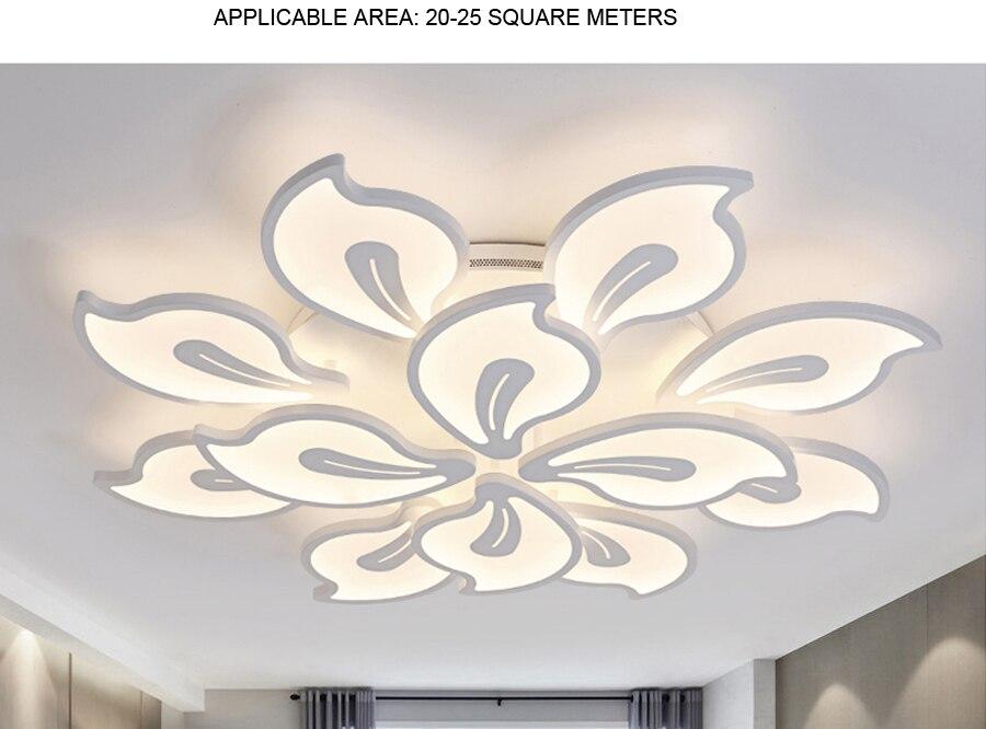 Deckenleuchten Led Wohnzimmer Decken Lampe Mit Fernbedienung Indoor Hause Führte Licht Decke Plafondlamp 90 V-260 V Für 15-25square Meter