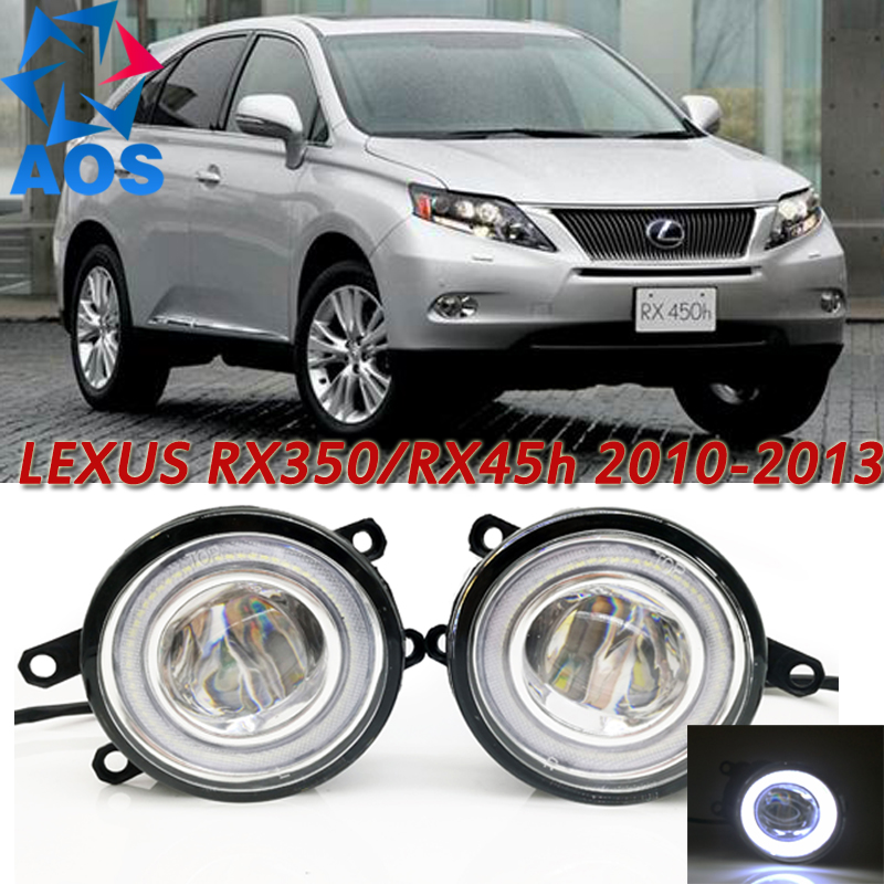 For Lexus RX350 RX450h 2010-2013 Car Styling LED Angel eyes DRL LED Fog lights Car Daytime Running Light fog lamp with bulbs set front bumper led fog lamp daytime running light replacement assembly 2p for lexus rx rx350 rx450h 2010 2011 2012 2013