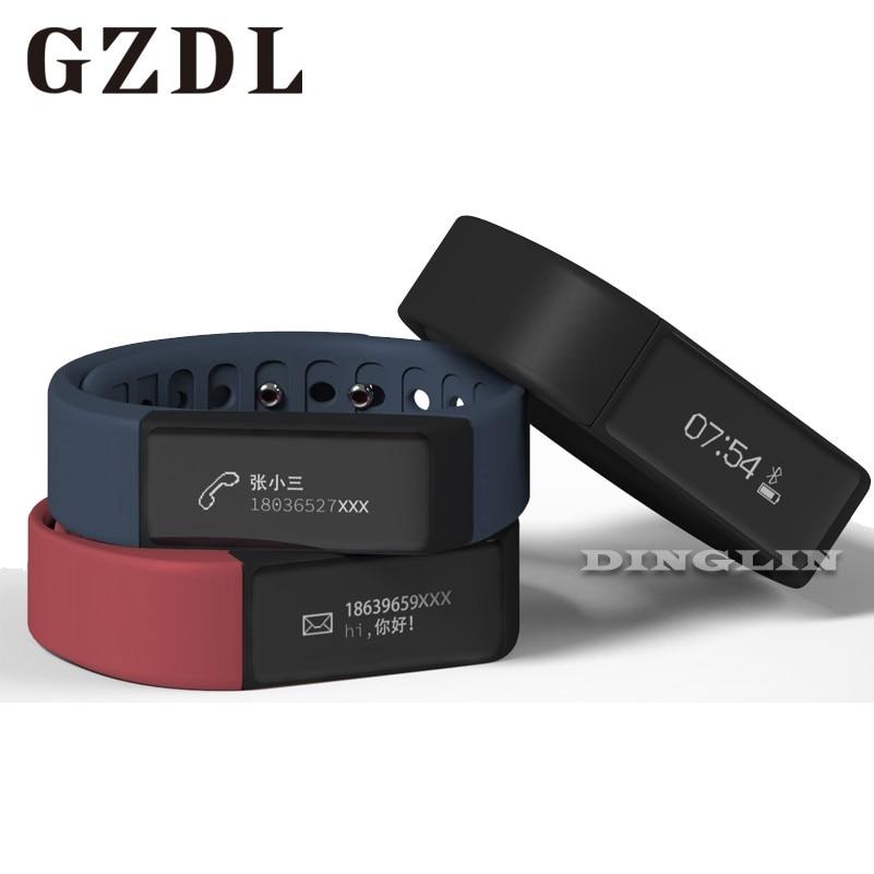 Gzdl I5 плюс Смарт Браслет <font><b>Bluetooth</b></font> Водонепроницаемый Сенсорный экран Фитнес трекер здоровье браслет сна Мониторы Смарт-часы WT8026