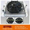 """Ventilador do radiador de corrida manual apenas para para honda civic 88-00 + magro 10 """"pull/push fã"""