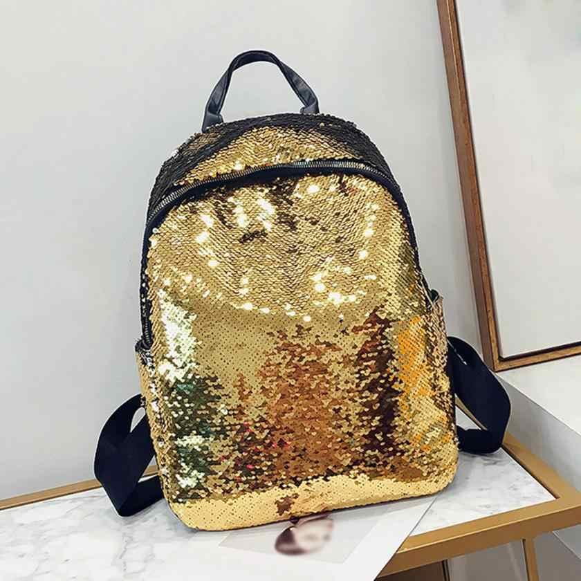 e362235890ba MOLAVE рюкзак Модная девушка блестки школьный рюкзак ученический ранец  Путешествия панелями плеча рюкзак женский 2018JUL13