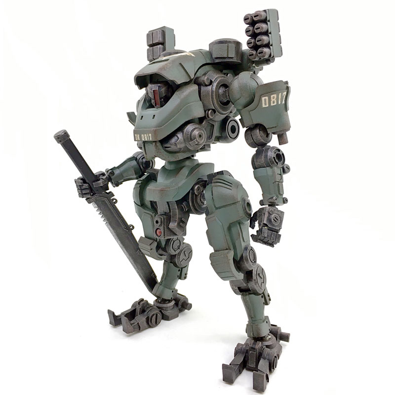JOY TOY 1:27 Action Figures robot the 3rd TIEKUI MECH model doll toy for children birthday Free shipping RE015 free shipping genuine joy toy 1 27 action figure robot military soldier set a birthday present simple packaging