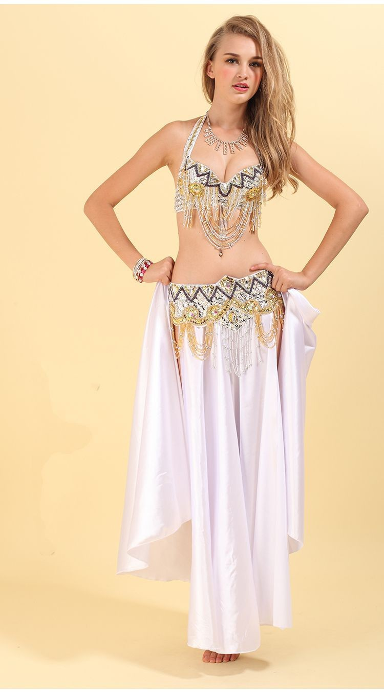 2017 Hot selling cheap belly dance costume professional for women belly dancing bra belt set on