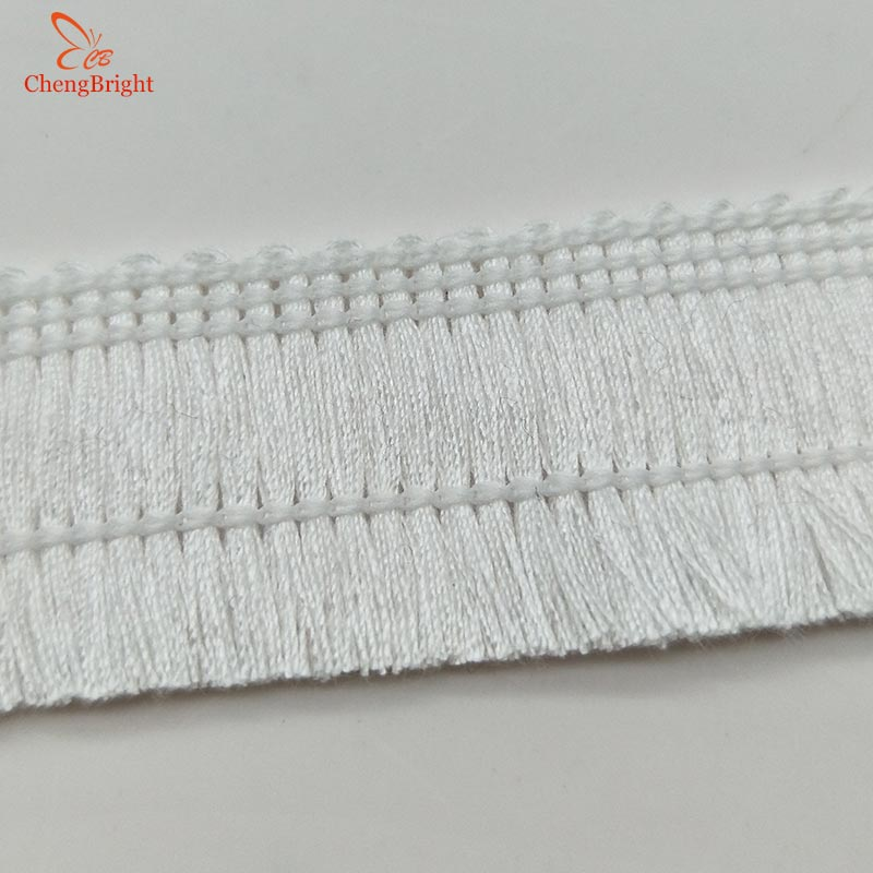CHENGBRIGHT 40 Yards 2.5cm Wide Lace Fringe Trim Tassel Fringe Trimming For Latin Dress Stage Clothe Accessorie Ribbon Tassel