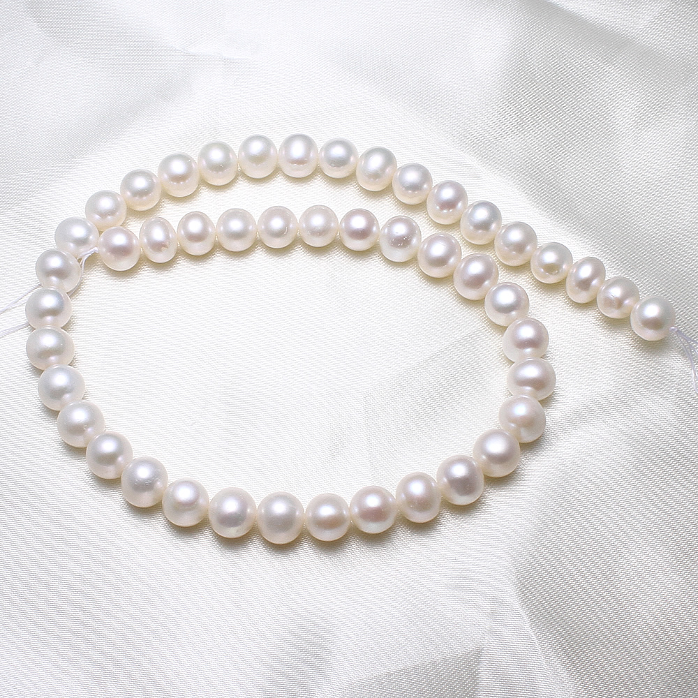 Potato Cultured Freshwater Pearl Beads designers natural, white, 9-10mm, Hole:Approx 0.8mm, Sold Per Approx 15.5 Inch StrandPotato Cultured Freshwater Pearl Beads designers natural, white, 9-10mm, Hole:Approx 0.8mm, Sold Per Approx 15.5 Inch Strand