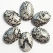 10 шт китайский Сумасшедший кружевной Камень Овальный Кабошон 25x18x6 мм SHX166