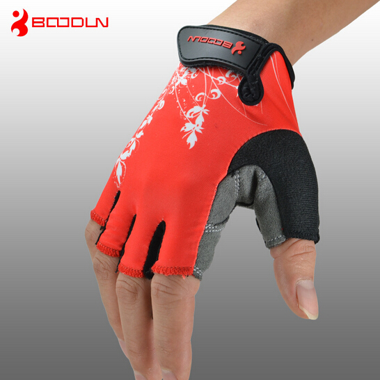 Boodun Summer Breathable Road Bike Bicycle font b Gloves b font Non Slip Half Finger Mountain