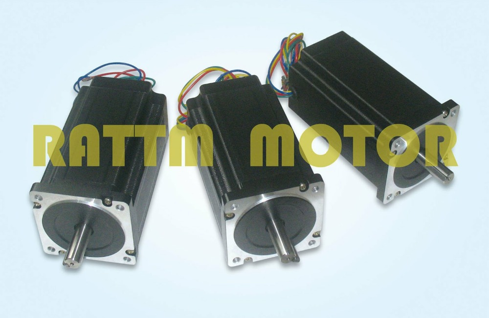 3 pièces qualité 4-plomb nema 34 moteur pas à pas 116mm longueur/5.6A/1230 onz-in pour CNC routeur graveur fraiseuse
