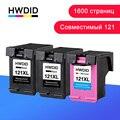HWDID 121XL Bijgevuld Inkt Vervanging Voor Hp/hp 121 XL Cartridge Voor Hp 121 Voor Deskjet D2563 F4283 F2423 F2483 F2493 F4283 F4583