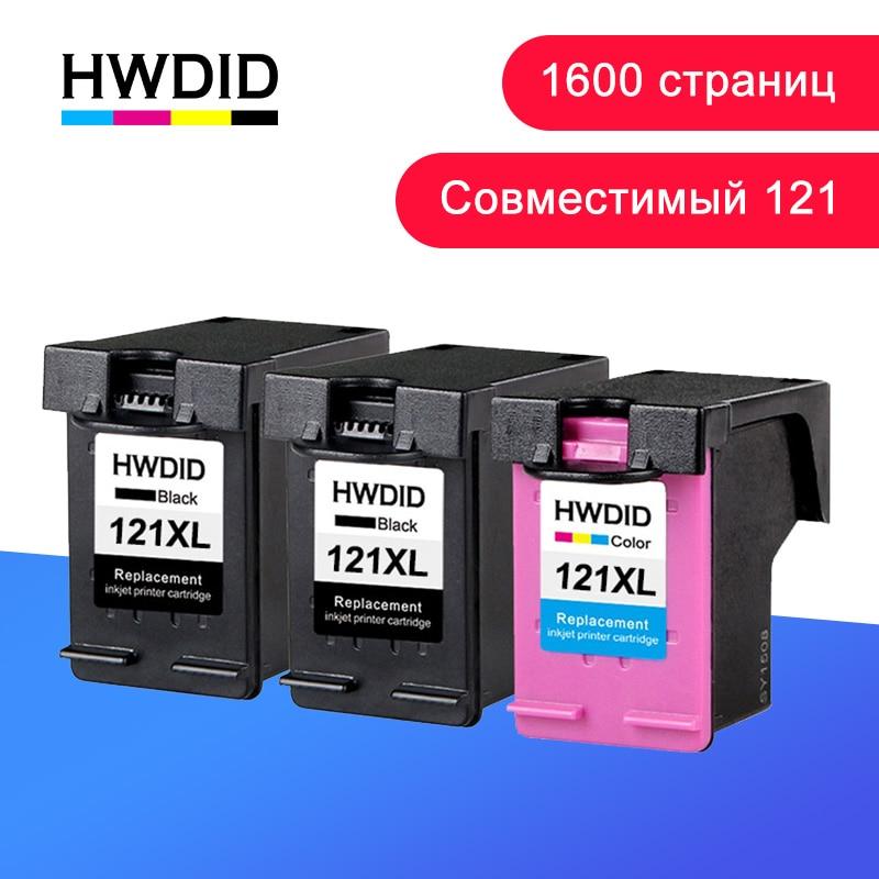 HWDID 121XL מילא את החלפת הדיו במחסנית דיו HP / HP 121 XL עבור hp121 עבור Deskjet D2563 F4283 F2423 F2423 F2483 F2493 F4283 F4583