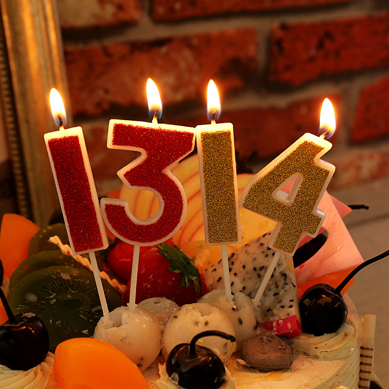 Creative Home Decor Youtube: 0 9 Gold/Red Birthday Number Candles Creative Birthday