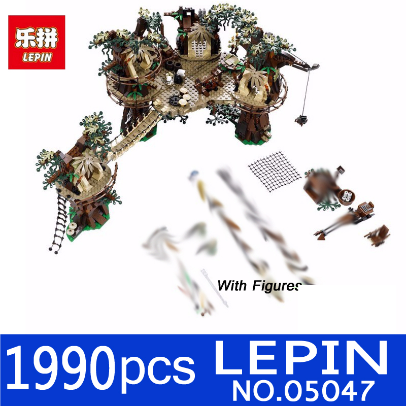 LEPIN 1990pcs 05047 Star Wars Ewok Village Building Blocks Juguete Para Construir Bricks Christmas Gift Toys