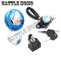 Motorbike Ignition Switch Gas Cap Cover Seat Lock Key Set Motorcycle For REBEL CMX MAGNA