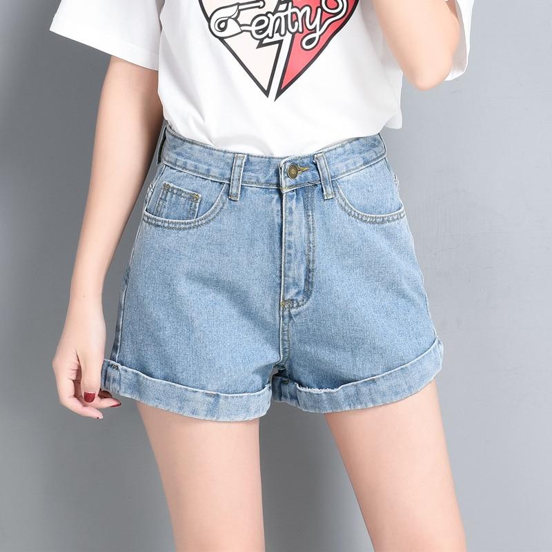 Mode Taille Haute Short En Jean Femme 2017 Été Nouvelle lâche jambe Large  Jeans Courts dans Jeans de Mode Femme et Accessoires sur AliExpress.com  45667c1970e
