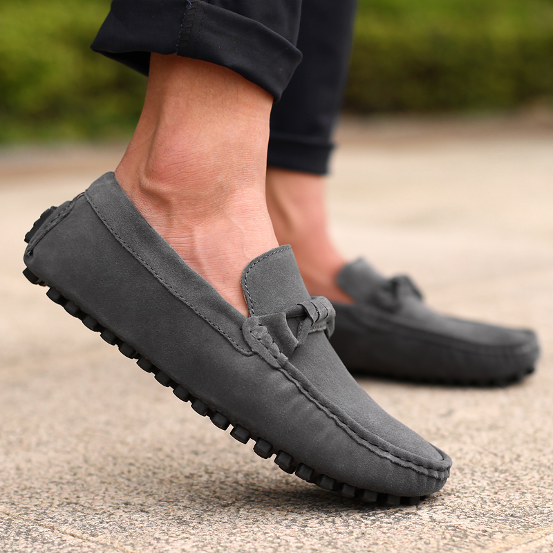 New Design Men Shoes New Autumn Leather Casual Shoes Fashion Breathable Loafers Shoes Men Faux Suede Moccasins Driving  MQ257 cbjsho brand men shoes 2017 new genuine leather moccasins comfortable men loafers luxury men s flats men casual shoes