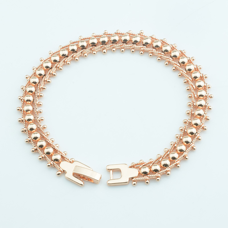 1 Stücke 9mm Breite Damen 20 Cm Ketten 585 Rose Gold Farbe Link Glatte Perle Ball Armbänder Toggle Schmuck