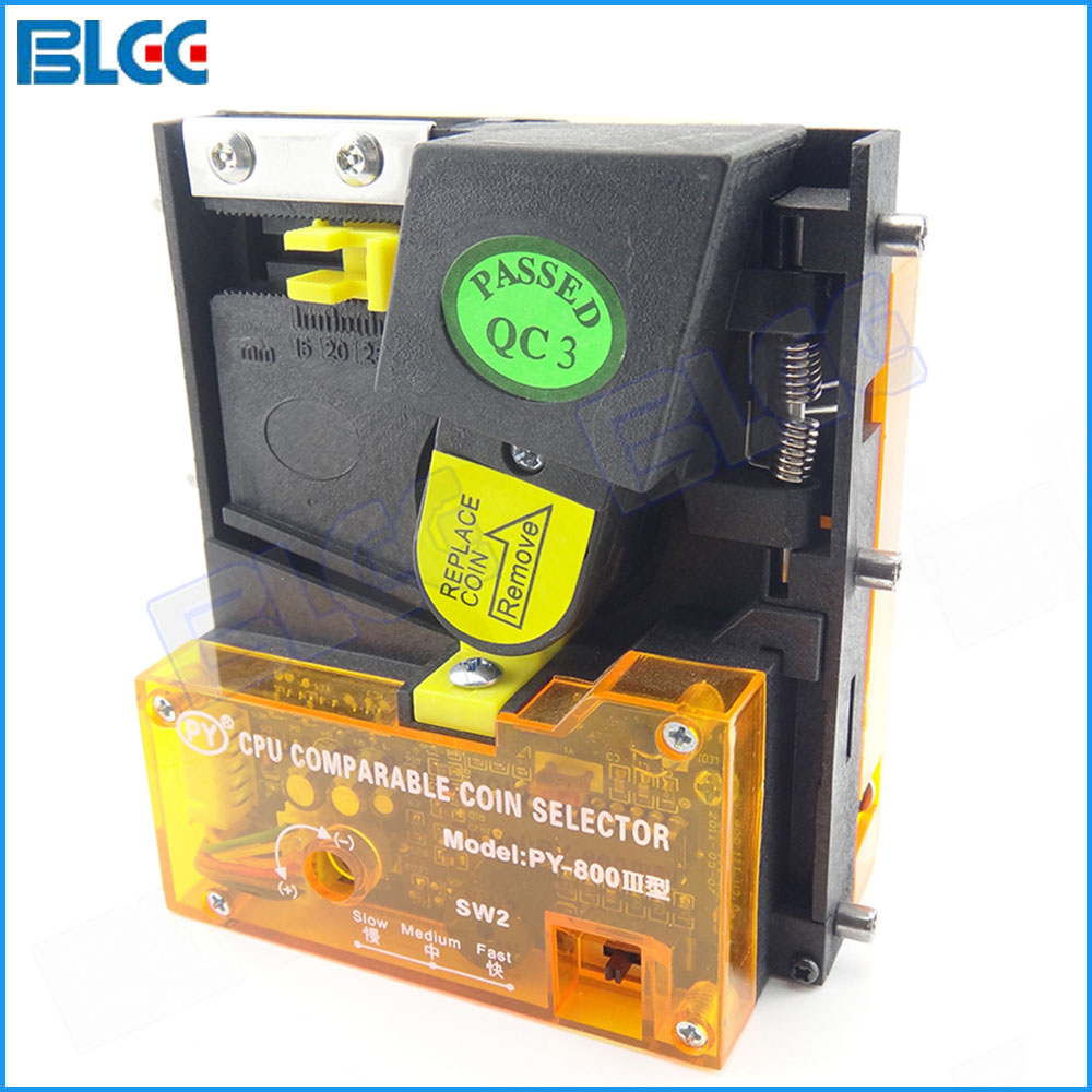 US $45 16  2pcs / lot Advanced Vertical CPU Coin Selector for Veanding  Machine Arcade Part Coin Acceptor Mechanism in Coin Operated Games-in Coin