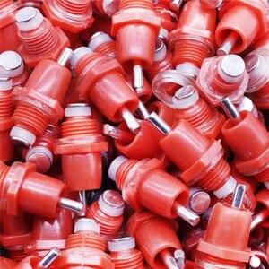 Image 3 - 500 pcs עוף שתיין פטמת חוט קוטר 10mm נירוסטה וabs חומר PVC מים צינור ידית קבוע עופות שתייה