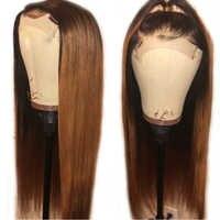SimBeauty Malasia pelo humano recto pelucas frontales de encaje #1B/30 Ombre Color 100% Peluca de cabello humano virgen sin procesar con cabello de bebé