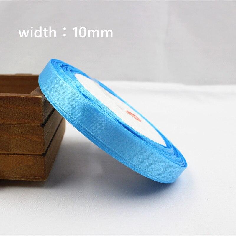 A-166910, 10 мм 31 цвет на выбор 25 ярдов шелковая атласная лента, свадебные декоративные ленты, подарочная упаковка, материалы ручной работы - Цвет: 012