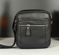 New Fashion Men Cowhide Genuine Leather Casual Messenger Shoulder Cross Body Bag High Quality