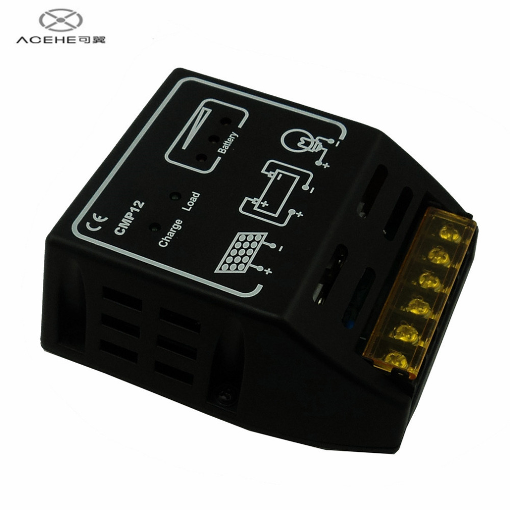 ACEHE High Quality 10A 12V/24V Solar Panel Charge Controller Battery Regulator Safe Protection Hot Sale in stock!!!