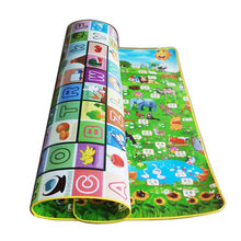 Alphabet Fruit Animals Baby Play Mats Crawling Mat Children's Play Pads Baby Carpet Rug Mat for Children Game Pad Double Pattern(China)