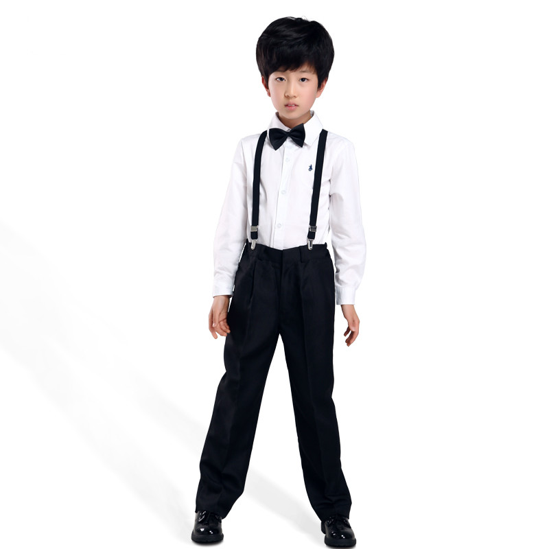 2017 New Spring Autumn Kids Boys Full Length Pants Children S Clothing Black Trousers Suit Students Performance Costumes In From Mother