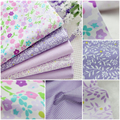 40 см * 50 см ткани Ручной мешок Ткани 5 шт. Фиолетовая Лаванда Хлопок Ткань Для Шитья лоскутное ткани, Текстиль тильда Куклы Ткань Тела