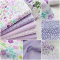 40 cm * 50 cm de tecido Manual Do saco de Pano 5 pcs Lavanda Roxo Tecido De Algodão Para Costura retalhos de tecido Têxtil Tilda Boneca Pano Corpo