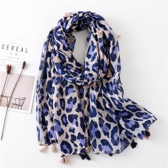 Brand 2019 new Design Leopard print Dot Cystic Viscose Shawl Scarf Printing High Quality Neckerchief Autumn Winter Muslim Hijab