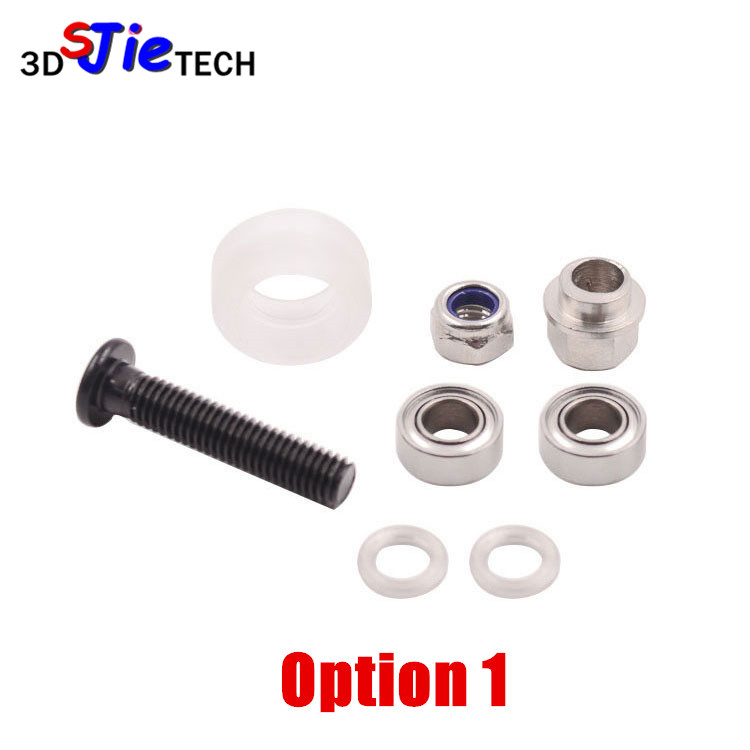 for 20mm extrusion linear rail CNC 3D printer 3pcs Polycarbonate Solid V Wheel