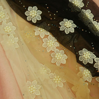 Princess Sweet Lolita Pantyhose Exclusive Handmade Pearl Lace Flowers Ultra Thin Can Cut Summer Pantyhose Thin