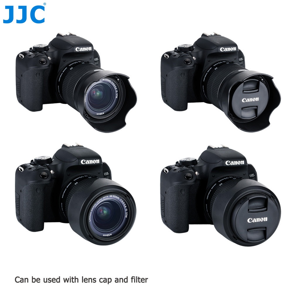 JJC Flower Shape Bayonet Lens Hood for Canon 200D EF-S 18-55mm f/3.5-5.6 IS STM Lens replaces EW-63C фотоаппарат canon eos 200d kit ef s 18 55 mm f 4 5 6 is stm black